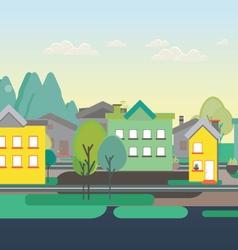 Flat design nature landscape vector image
