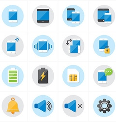 Flat Icons For Mobile Icons and Notification Icons vector
