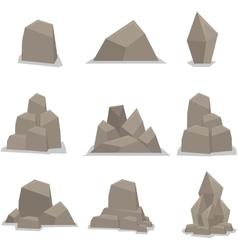 Flat stones set vector