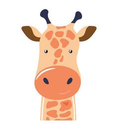 Giraffe cute animal baface vector