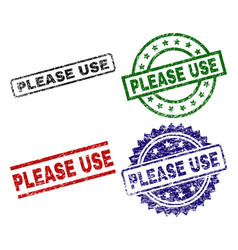 grunge textured please use stamp seals vector image