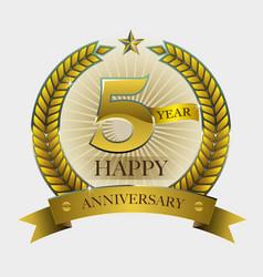 happy anniversary symbol vector image
