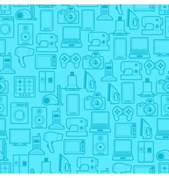 Home appliances and electronics seamless patterns vector