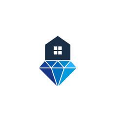 home diamond logo icon design vector image