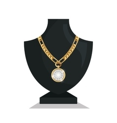 icon mannequins jewelry necklace isolated vector image