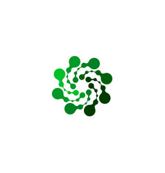 Isolated abstract green color round shape logo on vector