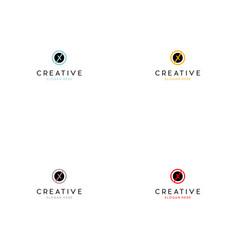 letter x circle creative logo design vector image