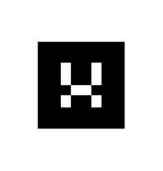 letter x logo icon combined with black square vector image