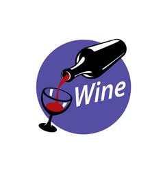 Logo wine vector