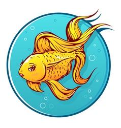 Lovely goldfish cartoon vector image
