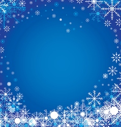 Merry Christmas and Happy New Year in winter The vector image