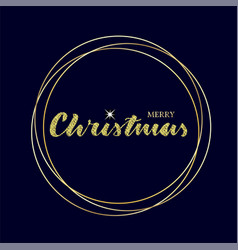 merry christmas lettering with sparkle star vector image