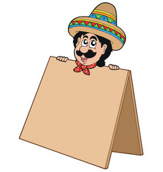 mexican man with table vector image