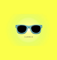 Minimalistic summer background with sunglass vector