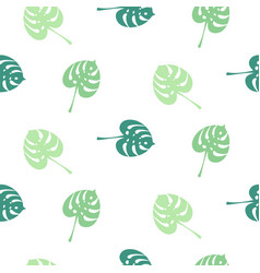 Monstera tropic plant simple leaves seamless vector