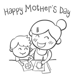 Mother day style hand draw vector