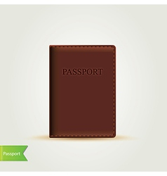 passport cover isolated vector image