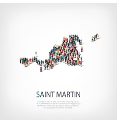 People map country Saint Martin vector