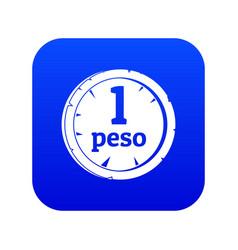 Peso icon digital blue vector