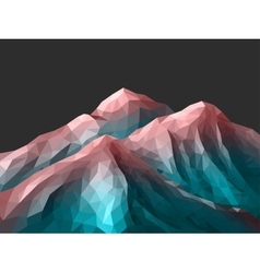 polygonal Mountain Rose Quartz Gradient vector image