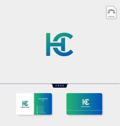 Premium initial ch hc c or h creative logo vector
