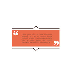 quote text box rectangle bubble for comment mark vector image