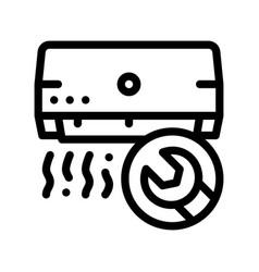 Repair air conditioner fan thin line icon vector