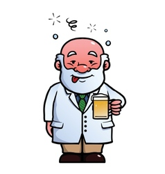 Scientist being drunk vector image