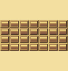 Seamless pattern of golden chocolate vector
