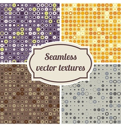 seamless texture of circles and dots vector image