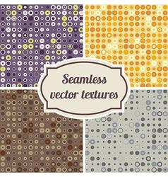 seamless texture of circles and dots vector image