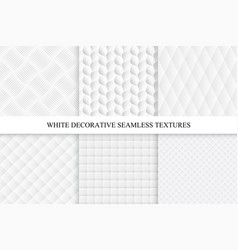 seamless white decorative textures vector image