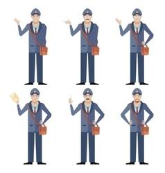 set postmen vector image