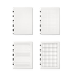 Set realistic notebooks isolated on white vector