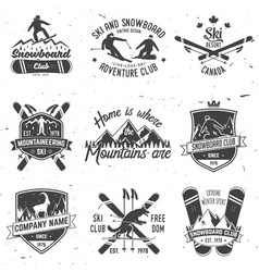 ski and snowboard club emblem vector image