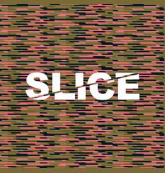 slice pattern vector image