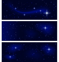 star constellations vector image