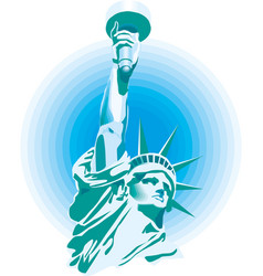 statue liberty new york city banner vector image