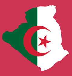 stylized algeria map showing big cities capital vector image