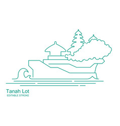 Tanakh lot temple in bali indonesia stylized vector