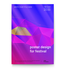 Template of poster design layout for vector
