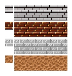 Texture for platformers pixel art - brick vector