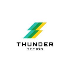 thunder bolt logo design vector image