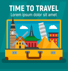 time to travel concept background flat style vector image
