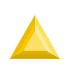 Triangular adamant icon flat style vector