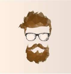 Triangular icon hipster vector