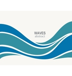 Water Wave Logo abstract design vector