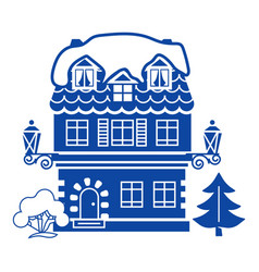 winter house icon simple style vector image