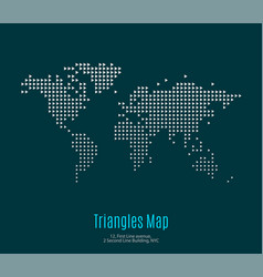 world map with triangles for business vector image