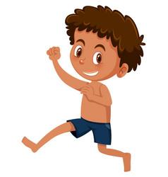 Young happy tan boy vector